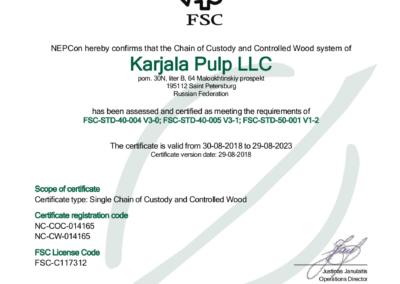 Karjala Certificate